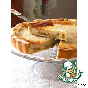 Тарт со сметаной и яблочным уксусом