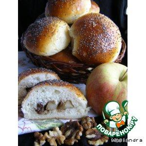 Булочки с медовыми яблоками и орехами