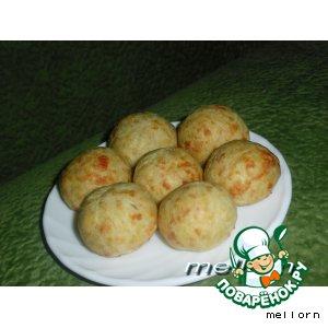 Сырные шарики с ветчиной
