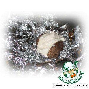 Печеный картофель с суфле из тимьяна