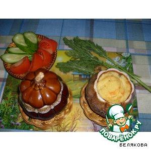 Картофель с сыром в горшочке