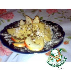 Яблочный бисквит за 5 минут