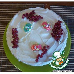 Торт без выпечки со взбитыми сливками