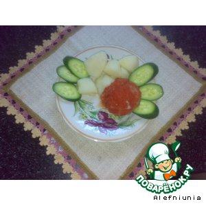 Мясные шарики с фасолью и луком