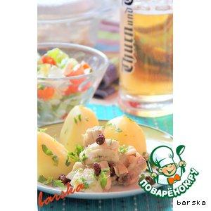 Рыба в пиве с лимоном и изюмом