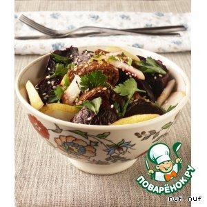 Салат со свeклой и азиатской грушей