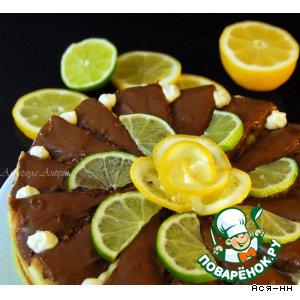 Торт лимонный с марципаном