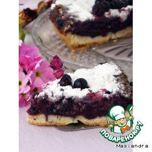 Швабский пирог с черной смородиной