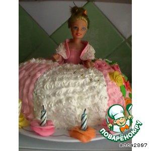 Заливной торт-кукла