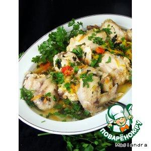 Курица с ароматной овощной подливой в мультиварке