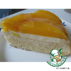 Лeгкий фруктовый тортик