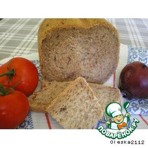 Хлеб с вином и красным луком