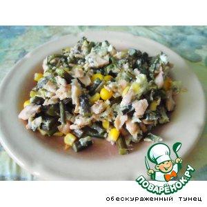 Теплый салат с папоротником