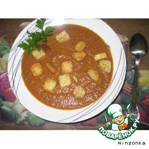 Томатный суп-пюре с грибами