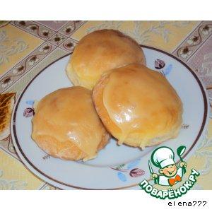 Творожные булочки с джемом и мятной помадкой