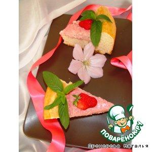 Пирог с творожно-клубничной начинкой из быстрого дрожжевого теста