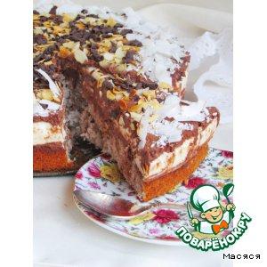 Кокосово-шоколадный торт