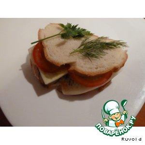 """Бутерброд с курицей """"Вечерний каприз"""""""