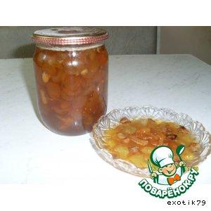 Варенье из белой черешни с лимоном и орехами