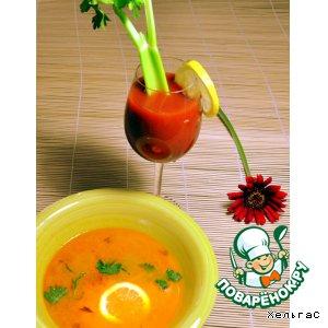 Морковный суп с лимоном и имбирем