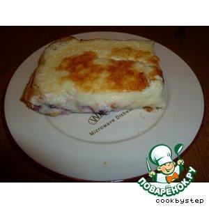 """Пирог с вишней и сливочным сыром """"Маскарпоне"""""""