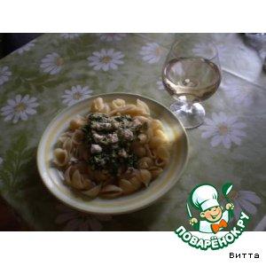 Макароны с голубым сыром