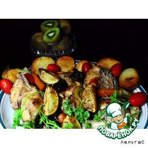Курица с киви и черносливом