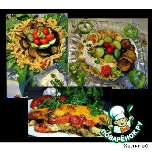 Овощи и макароны в разных вариантах
