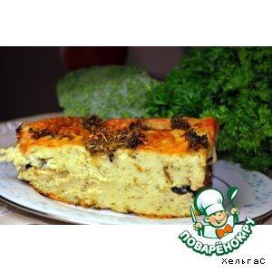 Пирог с цуккини, брокколи и оливками