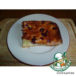 Пирог из миндального теста с творожно-вишневой начинкой