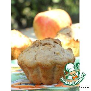 Яблочные маффины с орехами