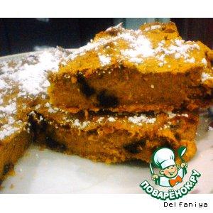 Тыквенный пирог-суфле с изюмом