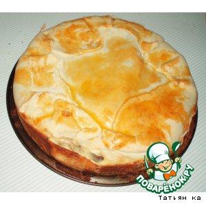 Луково-грибной пирог