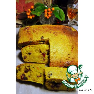 Ароматный хлеб из тыквы с клюквой, апельсином и бренди