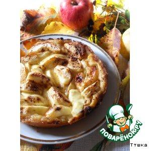 """Яблочный пирог с карамельно-сливочной заливкой """"Яблочная осень"""""""