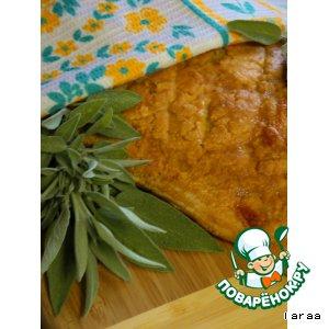 Багет с сырно-томатно-шалфейной начинкой