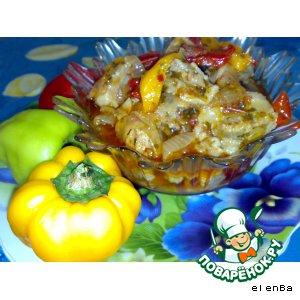 Свинина в овощном соусе