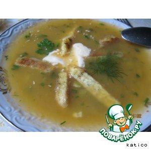Овощной суп-пюре с омлетом