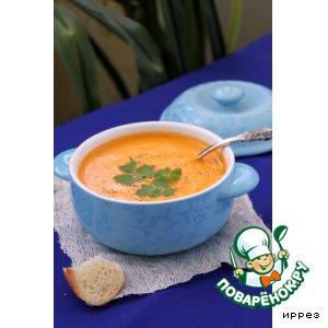 Суп из запеченной тыквы с грушами
