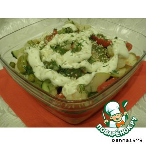 Салат из цветной капусты с виноградом