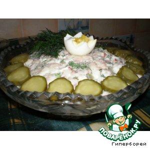 """Салат с фасолью и утиным мясом """"Царский"""""""