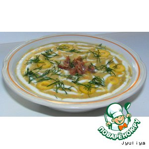 Суп-пюре из чечевицы с картофелем