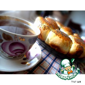 Сладкие булочки с начинкой из мака и фасоли