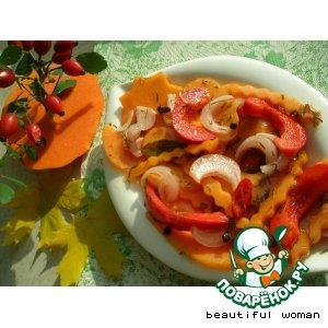 Закусочный салат из тыквы