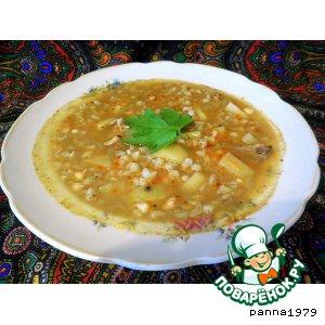 Пряный суп с перловкой