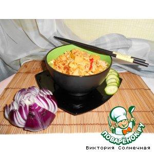 """Жареный рис со свининой """"Кау Пад Му"""""""