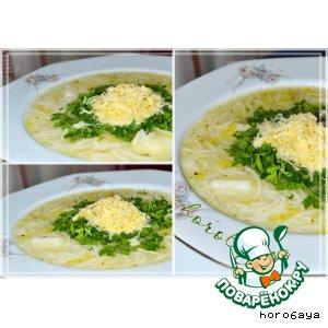 Густой суп из лука-порея по-вальдостански