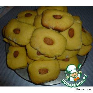 Печенье на желтках с миндалем