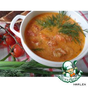 Томатный суп с водкой
