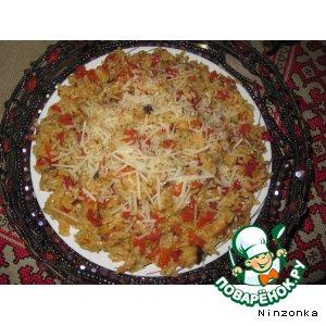 Рис с грибами и сыром по-тайски